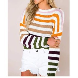INDRA Striped Knit Sweater